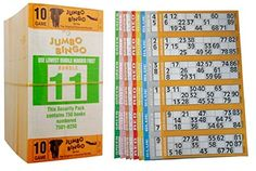 750 Books 10 Page Game Strips Of 6 Tv Jumbo Bingo Ticket Sheet Big Bold Numbers Bingo Tickets, Numbers, Tv, Games, Books, Libros, Book, Gaming, Toys