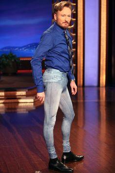 Conan O'Brien not because he wears pants like these, but because he wore pants like these.