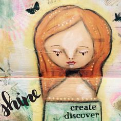 Let's shine create and discover together #acatlikecuriosity #whimsy #artjournal #mixedmedia #artist #art #artistsofinstagram #artwork #artstagram #artofinstagram #cute #quote #quotes #quotestoliveby #quoteoftheday #quoteslife #quotestagram