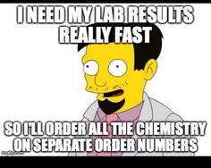 This is true.Curse you multiple specimen numbers! Science Geek, Science Humor, Medical Science, Laboratory Humor, Medical Laboratory Scientist, Lab Humor, Work Humor, Phlebotomy Humor, Med Lab