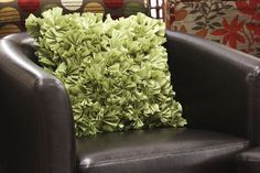 Green Ruffled Pillow (available only in stores) Click image to see weekly ad    #MeijerDormDecor #DormDecor