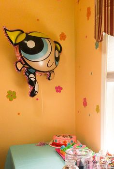 Powerpuff girl birthday party bubbles balloon
