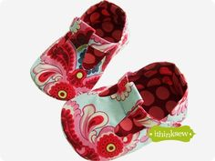 I think sew: baby mary janes ... i know a couple of sweet baby girls who could use a pair of these!