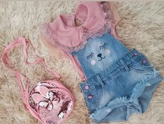 Cute Little Girls Outfits, Kids Outfits, Summer Baby, Baby Photos, Baby Knitting, My Girl, Doll Clothes, Kids Fashion, Girly