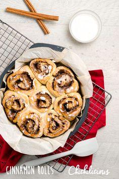Gluten Free Cinnamon Rolls Recipe - Chichilicious.com Sin Gluten, Gluten Free Pastry, Gluten Free Cinnamon Rolls, Breakfast Bread Recipes, Recipe Maker, Brown Rice Flour, Christmas Brunch, Rolls Recipe, Dry Yeast