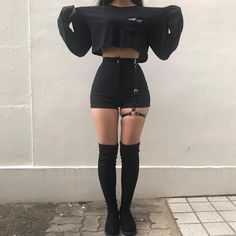 45 Best Summer Outfit Ideas That Are Big on Style, Low on Effort – Mode – Grunge Egirl Fashion, Teen Fashion Outfits, Grunge Outfits, Korean Fashion, Fashion Forms, British Fashion, Fashion Women, Gothic Fashion, Dark Fashion