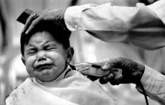 This reminds me of your haircuts when you were little.  EVERYTIME we took you to the barber, one of you would start screaming, therefore setting off your brother.  Neither one of you stopped screaming until the barber was finished.  You both drove everyone in the place nuts!!!!