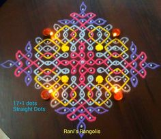 Small Rangoli Design, Rangoli Designs With Dots, Rangoli With Dots, Kolam Designs, Simple Rangoli, Indian Rangoli, Diwali Rangoli, Diwali Decorations, Festival Decorations