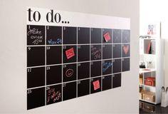 Als ik er plek voor had: kalender met schoolbordkrijt