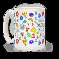 Zelda Items Pattern Mug