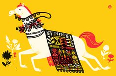 'Year of the Horse' from The Little Friends of Printmaking