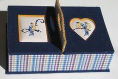 Cartonnage passion: Boîte à couture brodée