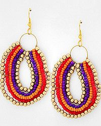 Multi Color Acrylic Seed Bead #Earrings $8.00 #jewelry