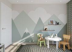 Baby Bedroom, Baby Room Decor, Living Room Bedroom, Kids Bedroom, Kids Wall Murals, Kids Room Wall Decals, Baby Room Design, Boy Room, Room Interior