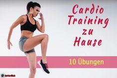 Cardiotraining kann man nur draußen trainieren. Falsch! Ich zeige dir, wie du mit 10 Übungen