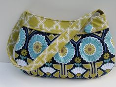 Buttercup bag in Modern Meadow by stitch248 on Etsy, $40.00