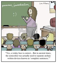 using a semicolon