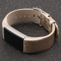 """Amazon.com : Henoda Genuine Leather Bands for Fitbit Charge 2, Charge 2 Strap Style (Gold, Fit wrist size 6"""" - 8.5"""") : Sports & Outdoors"""