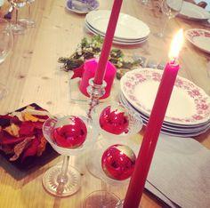 Mesa lista para comidas y cenas navideñas en Cuchara Club #Barcelona #christmas