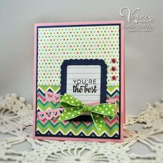 Card by Janelle Stollfus using Button Best from Verve. #vervestamps