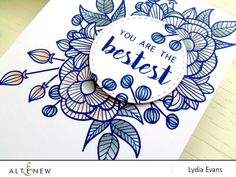 A card with a lovely wreath-like image with a nice sentiment using mainly Altenew's stamp set, Striped Florals. For more info and list of supplies used on this project, visit our blog. www.altenew.com