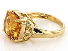 Mia Diamonds 925 Sterling Silver Solid Citrine Ring
