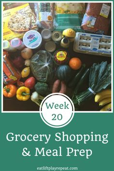 Grocery Shopping & Meal Prep | Need help navigating the grocery store to find clean eating friendly foods? See what foods to buy and how to prepare those foods for a week's worth of healthy, clean eating meals! Click through to learn more.