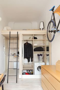 Szymon Hanczar designed a tiny 13 square metre (approx. 139 sq feet) apartment in Wroclaw, Poland, that he lived in for several years.