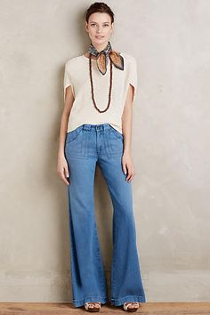 AG Carly Wide-Leg Jeans - anthropologie.com