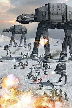 Battle on Hoth Wallpaper Darth Vader, Star Wars Wallpaper, Star Wars Concept Art, Star Wars Fan Art, Star Wars Pictures, Star Wars Images, Star Wars Characters, Star Wars Episodes, Nave Star Wars