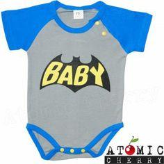 New Bat Baby Onesie Infant Unisex Cute Super Hero Rockabilly Batman DC