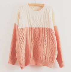 This white and pink cotton sweater is my love. Haha