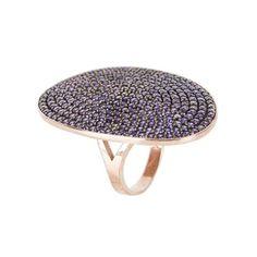 St Tropez Ring Rosegold Amethyst Zircon