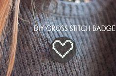 DIY Cross Stitch Badge Tutorial