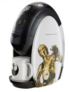 I would drink coffee if i had this. Nestle Coffee Machine - Star Wars