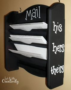 Confession Time- The Good, Bad, and Ugly Mail Holder Makeover - Just a Little Creativity