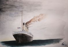 Titanic watercolor