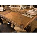 Ambella Home Collection - Marseilles Copper Top Dining Table - 17502-640-002-990-162  SPECIAL PRICE: $5,810.00