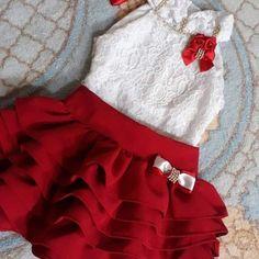 Girls Frock Design, Baby Dress Design, Baby Girl Dress Patterns, Little Girl Skirts, Little Girl Outfits, Kids Outfits, Baby Girl Fashion, Kids Fashion, Kids Dress Collection