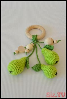 Crochet rattle pear Baby teething toy Play food Organic teether natural yarn Newborn gift Waldorf Suitable from 0 + age READY TO SHIP by LaiLu on Etsy Teething Toys, Baby Teething, Baby Food By Age, Food Baby, Baby Food Containers, Baby Girl Cards, Baby Shower Gifts For Boys, Crochet Baby, Cotton Crochet
