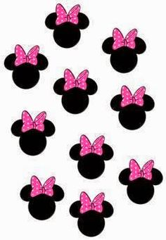 Mickey Mouse Png, Minnie Mouse Template, Minnie Mouse Stickers, Minnie Mouse Pink, Baby Mickey, Minnie Mouse Party, Mouse Parties, Nail Stickers, Royal Icing Templates