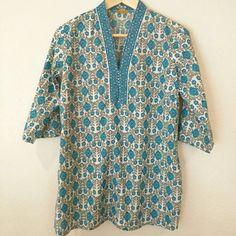 Aurelia 3/4 long sleeve kurta Aurelia 3/4 long sleeve kurta. New without tags. 100% cotton. Aurelia Tops Tunics