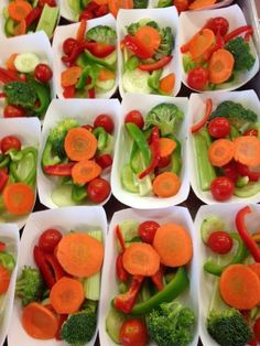 These eye-popping, appealing veggie boats from Knowlton, Maine, MSAD #60 School Nutrition.