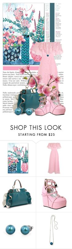 """be you....."" by queenrachietemplateaddict ❤ liked on Polyvore featuring Temperley London, Fendi, Demonia, Honora and Lafayette 148 New York"