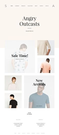 shop homepage layout
