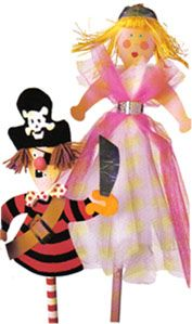 kitchen spoon puppets