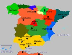 map of spain- from Lisbon to Madrid, to Sevilla, to Malaga, to Granada, to Valencia, to Sitges and then to Barcelona, what a trip!