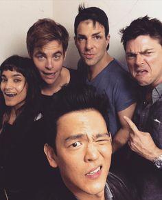 Sofia Boutella (Jaylah) Chris Pine (Kirk) Zachary Quinto (Spock) Karl Urban…