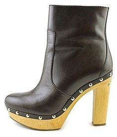 MICHAEL Michael Kors Women's Beatrice Platform Leather Ankle Boots. Brown Booties, Leather Ankle Boots, Ankle Booties, Closed Toe Shoes, Peep Toe Wedges, Platform Boots, Michael Kors, Polyvore, Fashion