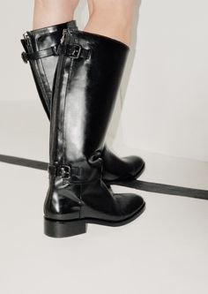 & Other Stories | High Shaft Leather Boots.